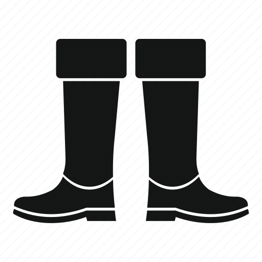 boot, fishing, footwear, pair, protection, rubber, shoe icon