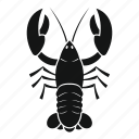 animal, claw, crayfish, delicious, eating, fishing, organic icon