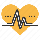 heartbeat, lifeline, medical, pulse icon