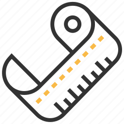 measure, measurement, ruler, tape, tool icon