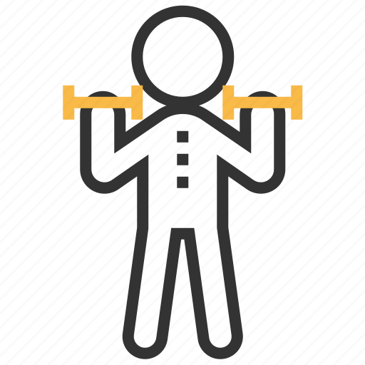 exercise, fitness, gym, training, weight icon