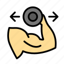 dumbells, exer, fitness, gym, muscle, sportcise icon