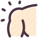 body, fitness, part, shoulder icon