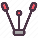 equipment, fitness, gym, stretcher, twine icon