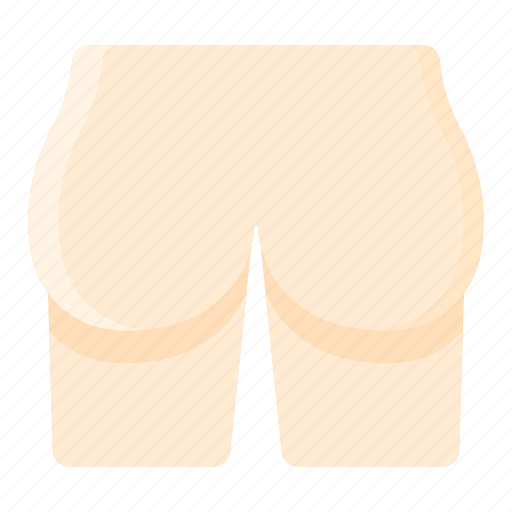 body, bottom, butt, buttock, part icon