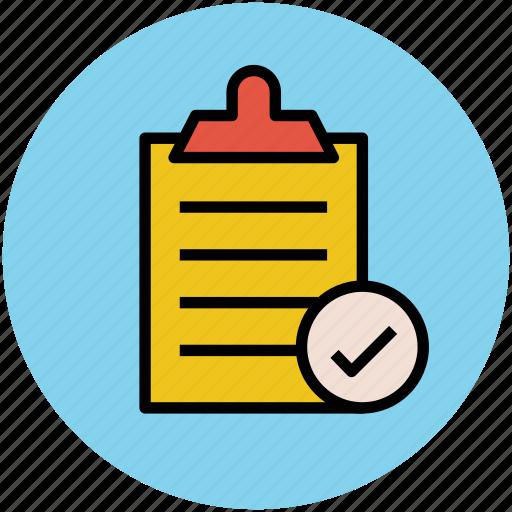 checklist, clipboard, diet chart, document, list checked, list verified, report icon