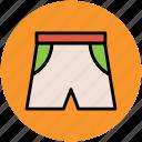 briefs, shorts, swim shorts, undergarments, underpants icon