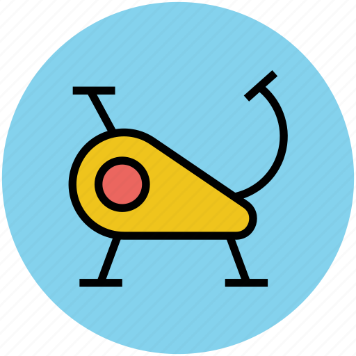 bicycle of gym, exercise bicycle, exercise bike, exercycle, gym, stationary bicycle icon
