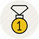 first position, medal, position medal, prize, winner champion icon