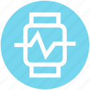 app, fitness, gym, health, smart, technology, watch icon