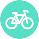 bicycle, bike, cycle, cycling, cyclist, exercise, fitness icon