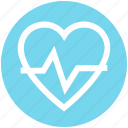 beat, bodybuilding, fitness, health, healthy, heart, pulse icon