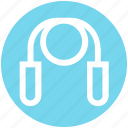 equipment, fitness, gym, health, healthy, jumping, rope icon