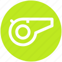 coach, fitness, fluit, gym, health, training, whistle icon