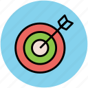 archery, archery arrow, bullseye, dart, dartboard, optimization, target icon