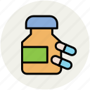 capsules, medical drugs, medications, medicine, pills, treatment, vitamins icon