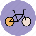 bicycle, bike, cycle, cycling, pushbike, transport, travel icon