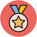 champion, medal, medal award, prize, star medal, winner icon