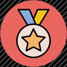champion, medal, medal award, prize, star medal, winner icon