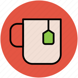 beverage, cup, hot drink, instant tea, tea cup, teabag icon