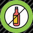 no alcohol, no wine, wine not allowed, wine prohibition, wine restriction icon