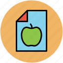 apple, diet chart, diet plan, dieting, healthy diet, sheet icon
