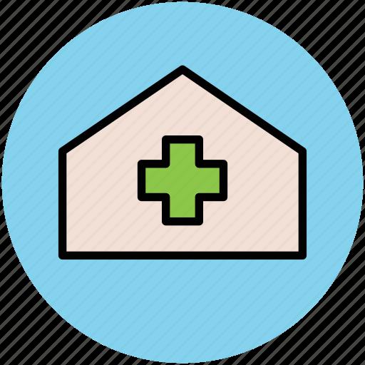 clinic, dispensary, health clinic, hospital, medical center icon