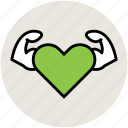 fitness, health care, healthy, heart care, strong heart icon