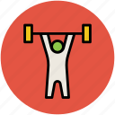 bodybuilder, bodybuilding, exercise, fitness, gym, weightlifter icon