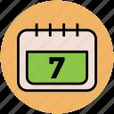 calendar, date, day, day book, schedule, wall calendar icon