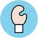 boxing, boxing glove, cushioned gloves, glove, sports, sports accessories icon