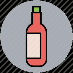 alcohol, beverage, bottle, champagne bottle, drink, wine bottle icon