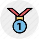 award, competition, first position, fitness, health, medal icon