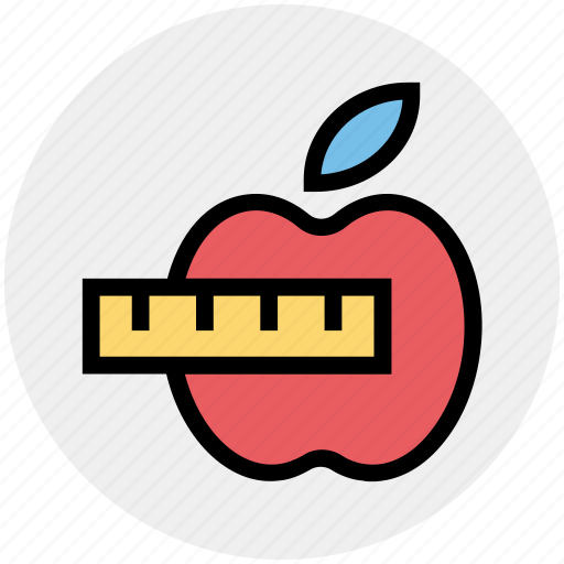 Apple, diet chart, eating, health and fitness, healthy diet, healthy eating icon - Download on Iconfinder