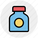 bottle, capsule, drink, fitness, gym, medicine, pharmacy icon