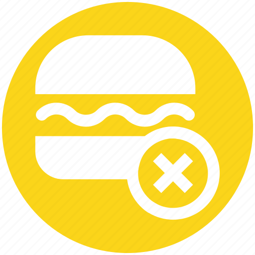 eat, fast, food, forbidden, hamburger, health, unhealthy icon