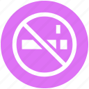 ban, cigarette, forbidden, no, no smoking, smoking, tobacco icon
