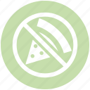 ban, ban fast food, forbidden pizza, no junk food, no pizza, prohibited pizza, restriction icon