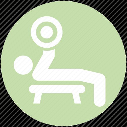 aerobics, dumbbells, exercise, fitness, gym, health, workout icon