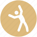 core, exercise, fitness, gym, healthy, workout, yoga icon