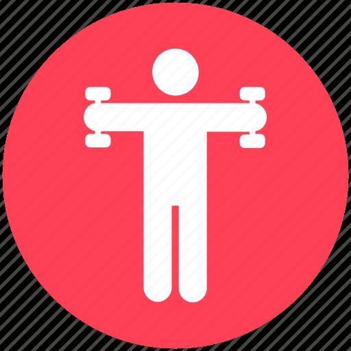 bodybuilding, dumbbells, exercise, fitness, gym, training, weight icon