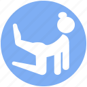 exercise, female, fitness, gym, health, training, yoga icon