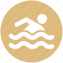 fitness, health, pool, sports, summer, swimmer, swimming icon