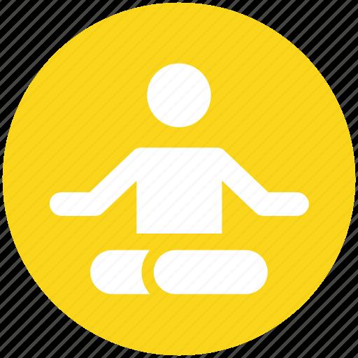 exercise, fitness, health, meditation, training, yoga icon