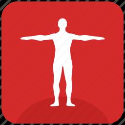 body, figure, gym, man, sportsman icon