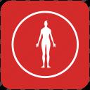 lady, round, sportsman, trainings, woman icon