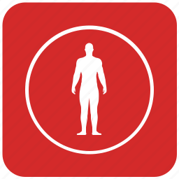 body, figure, fit, fitness, round, slim icon