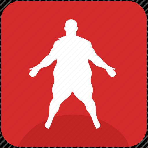fat, figure, fitness, man, sportsman icon