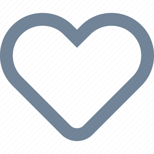 fitness, health, heart, line, love, shape icon