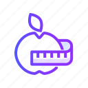 apple, diet, fresh, fruit, health icon